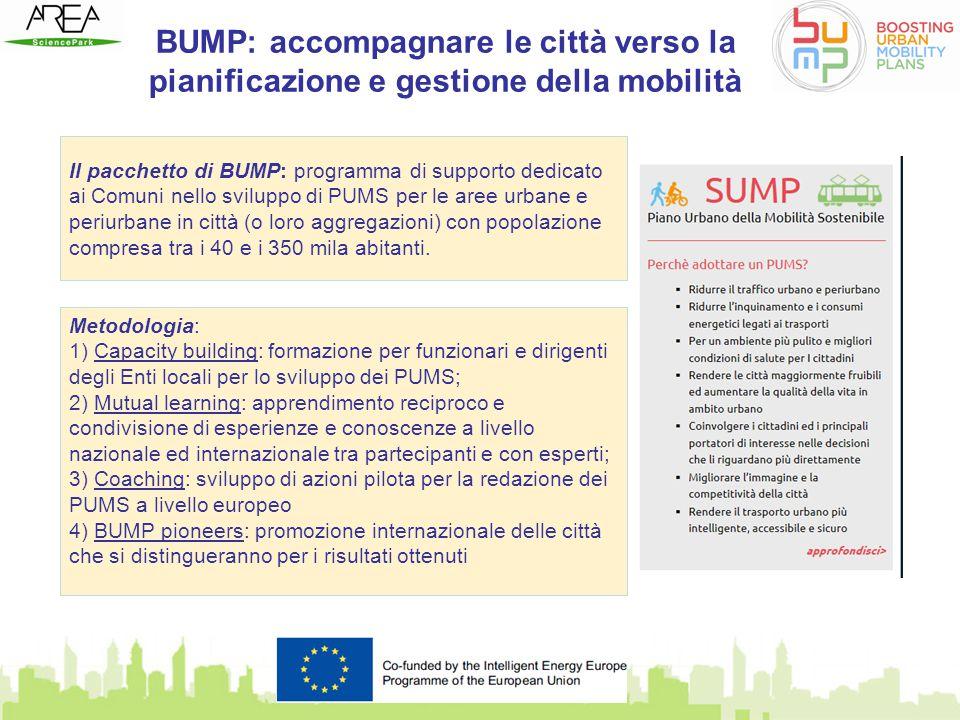 BUMP: accompagnare le città verso la pianificazione e gestione della mobilità Il pacchetto di BUMP: programma di supporto dedicato ai Comuni nello svi