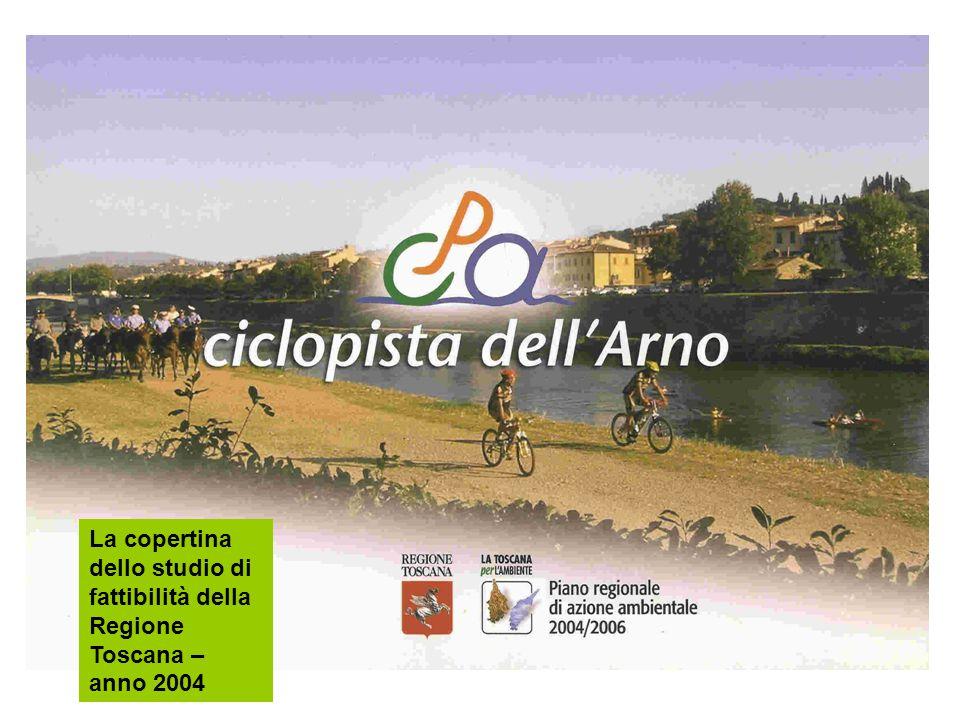 La copertina dello studio di fattibilità della Regione Toscana – anno 2004