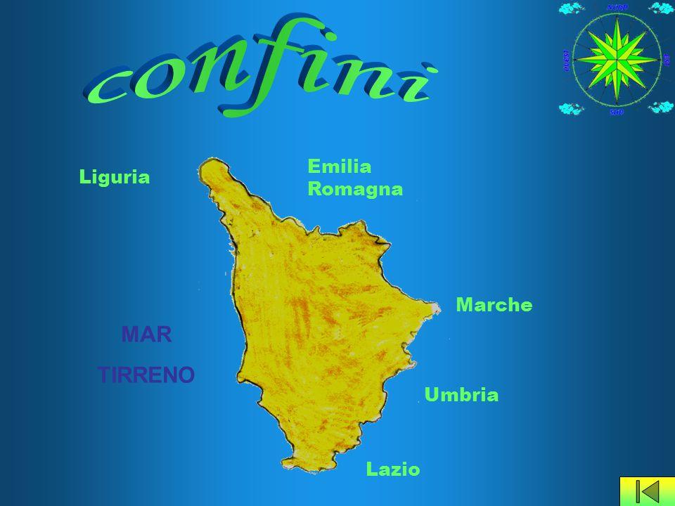Più della metà del territorio Toscano è occupato da colline, la cui altitudine media è compresa fra i 200 e i 500 metri.