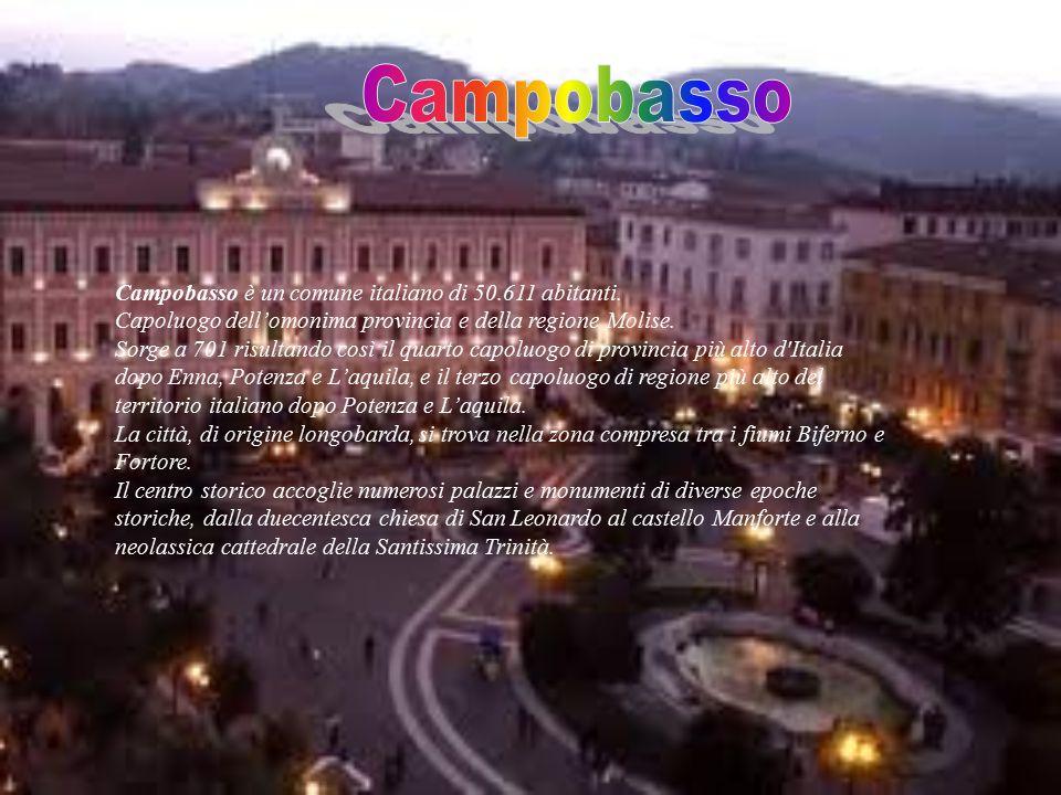 Campobasso è un comune italiano di 50.611 abitanti.