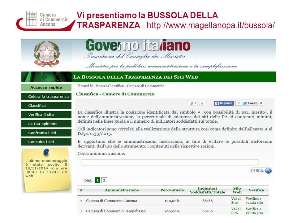 Vi presentiamo la BUSSOLA DELLA TRASPARENZA - http://www.magellanopa.it/bussola/