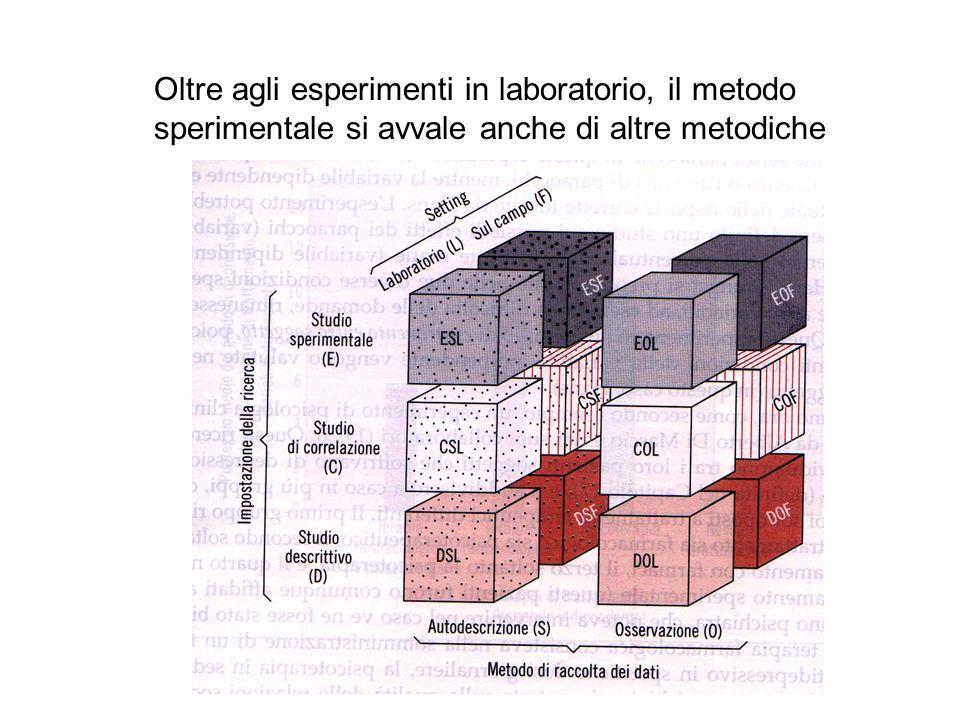 Oltre agli esperimenti in laboratorio, il metodo sperimentale si avvale anche di altre metodiche