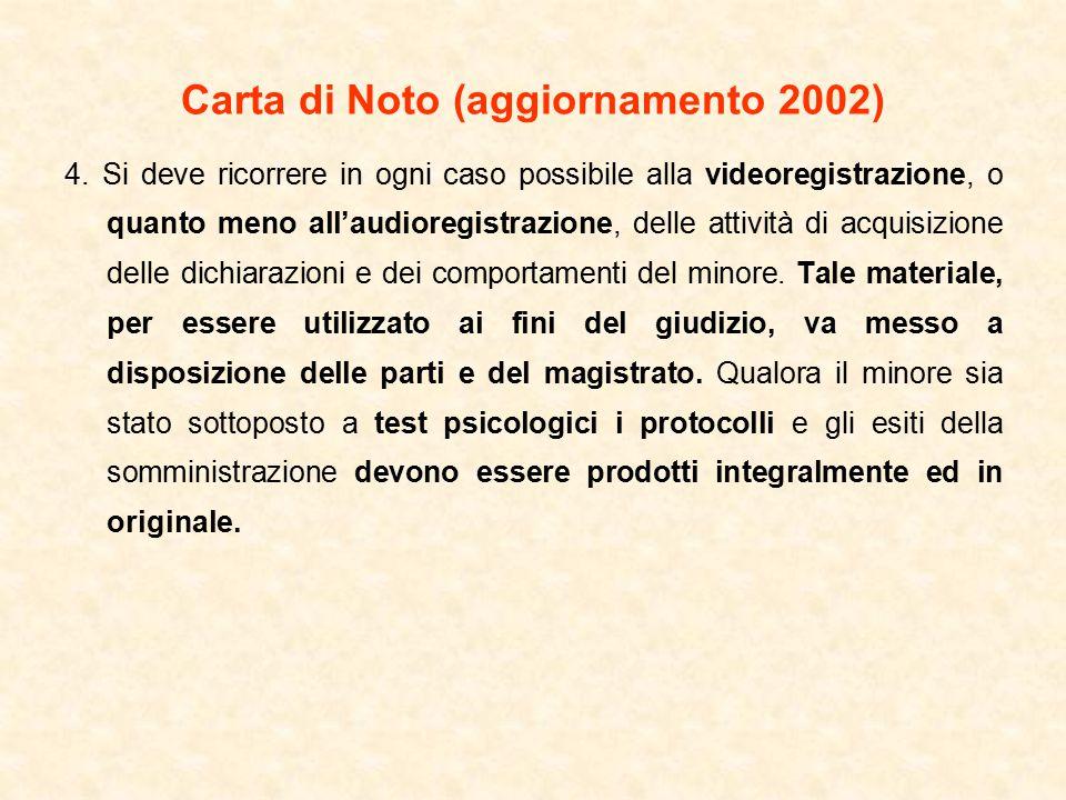 Carta di Noto (aggiornamento 2002) 4.