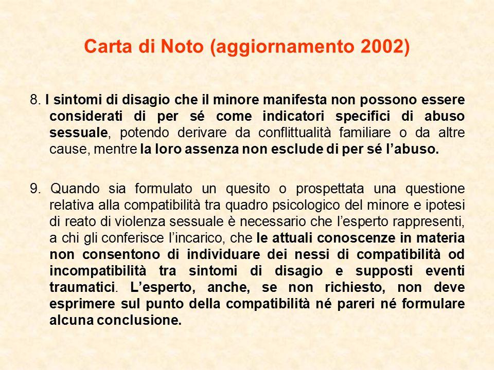 Carta di Noto (aggiornamento 2002) 8.