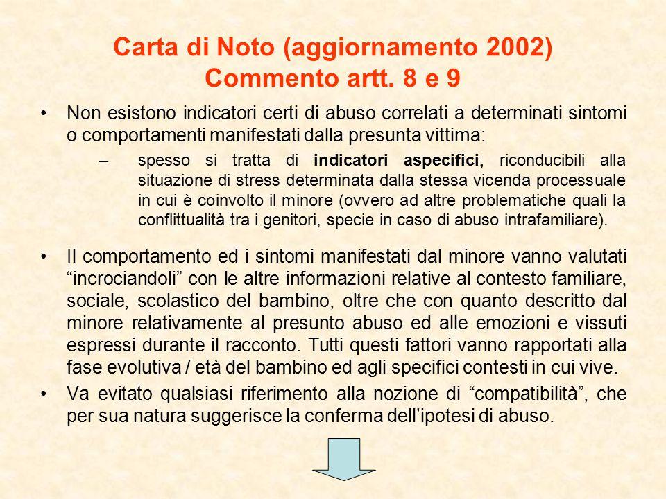 Carta di Noto (aggiornamento 2002) Commento artt.