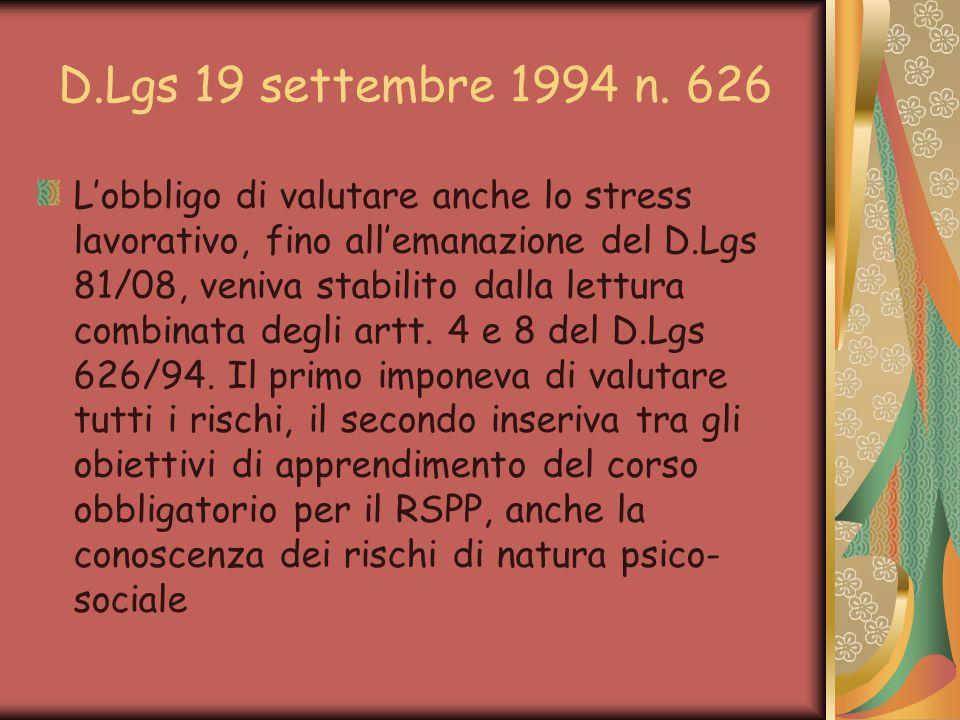 D.Lgs 19 settembre 1994 n.