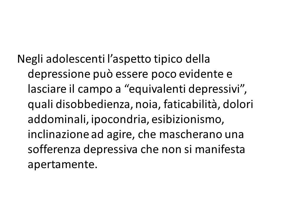 """Negli adolescenti l'aspetto tipico della depressione può essere poco evidente e lasciare il campo a """"equivalenti depressivi"""", quali disobbedienza, noi"""