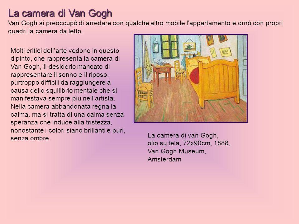 La camera di Van Gogh Van Gogh si preoccupò di arredare con qualche altro mobile l'appartamento e ornò con propri quadri la camera da letto. Molti cri