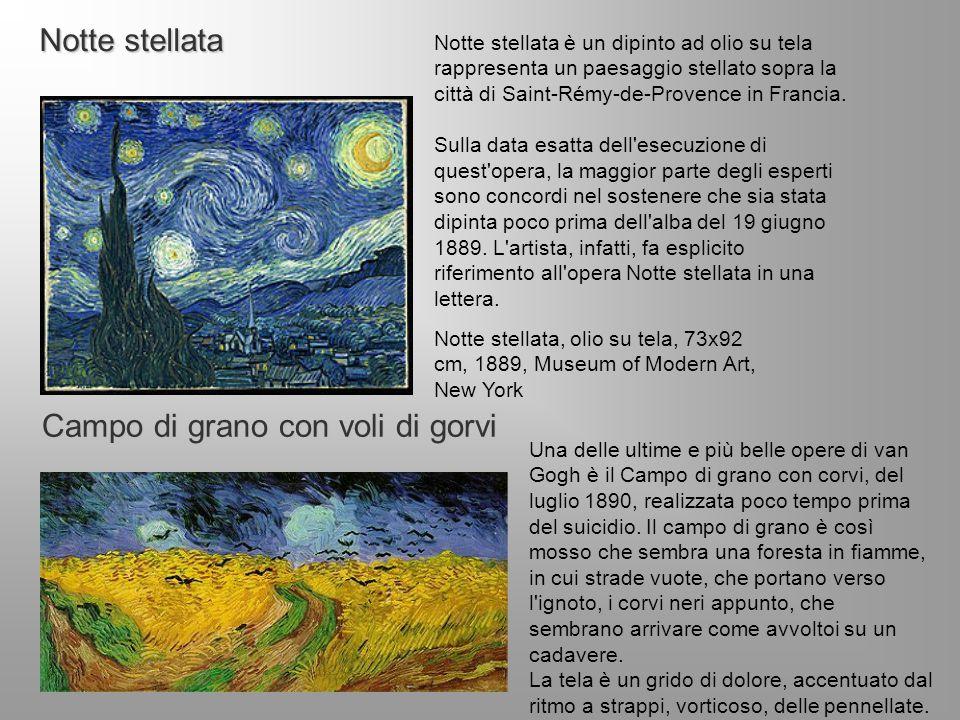 Notte stellata Notte stellata è un dipinto ad olio su tela rappresenta un paesaggio stellato sopra la città di Saint-Rémy-de-Provence in Francia. Sull