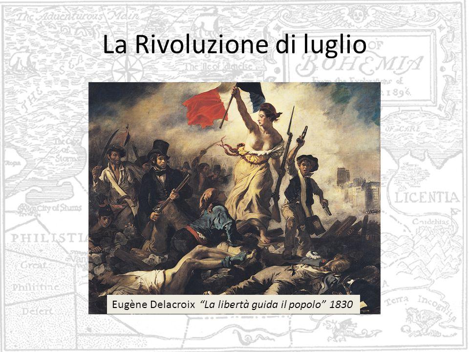 La Rivoluzione di luglio Eugène Delacroix La libertà guida il popolo 1830