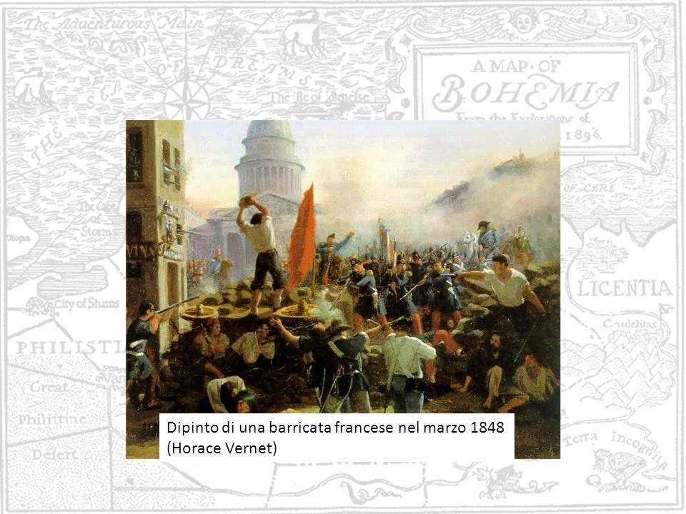Dipinto di una barricata francese nel marzo 1848 (Horace Vernet)