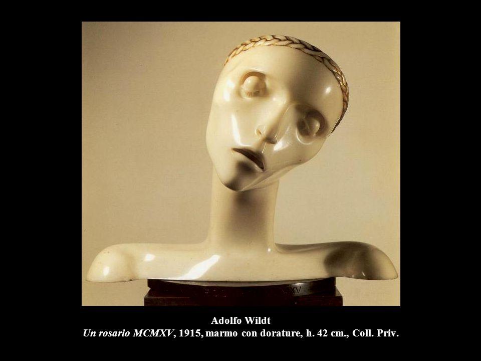 Adolfo Wildt Un rosario MCMXV, 1915, marmo con dorature, h. 42 cm., Coll. Priv.