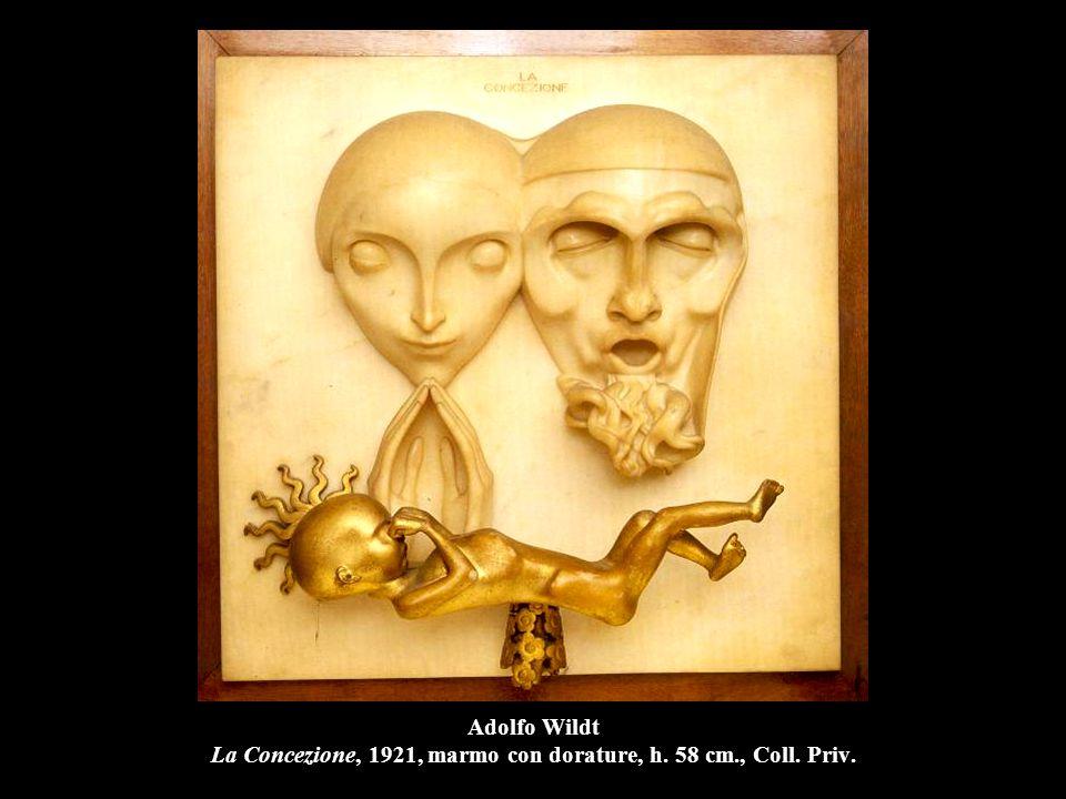 Adolfo Wildt La Concezione, 1921, marmo con dorature, h. 58 cm., Coll. Priv.