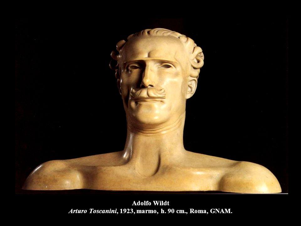 Adolfo Wildt Arturo Toscanini, 1923, marmo, h. 90 cm., Roma, GNAM.