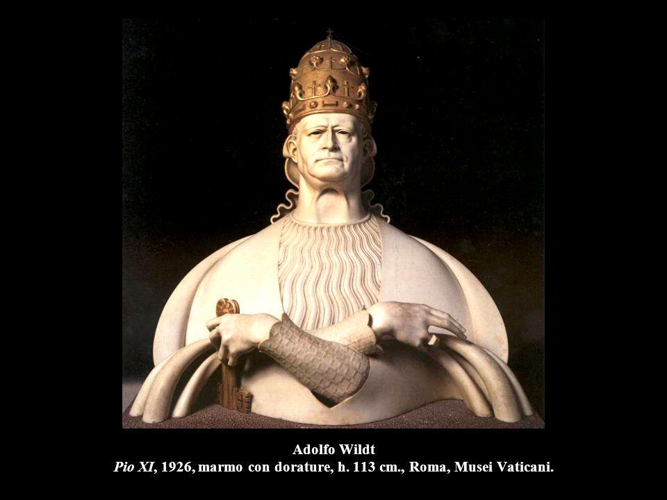 Adolfo Wildt Pio XI, 1926, marmo con dorature, h. 113 cm., Roma, Musei Vaticani.