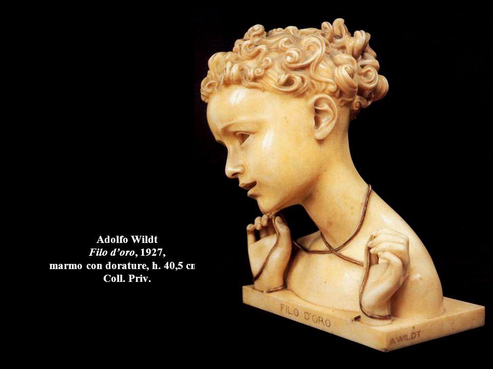 Adolfo Wildt Filo d'oro, 1927, marmo con dorature, h. 40,5 cm., Coll. Priv.