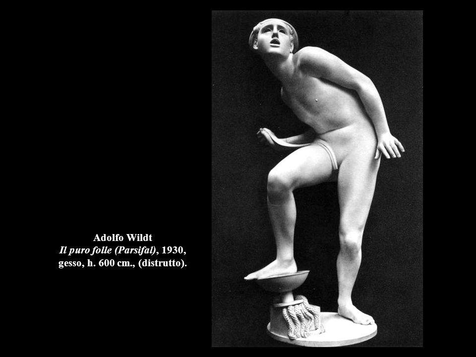Adolfo Wildt Il puro folle (Parsifal), 1930, gesso, h. 600 cm., (distrutto).