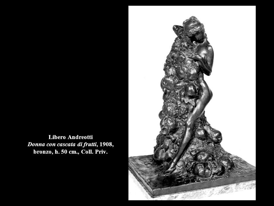 Libero Andreotti Donna con cascata di frutti, 1908, bronzo, h. 50 cm., Coll. Priv.