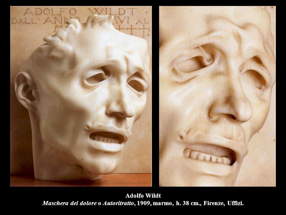 Adolfo Wildt Maschera del dolore o Autoritratto, 1909, marmo, h. 38 cm., Firenze, Uffizi.