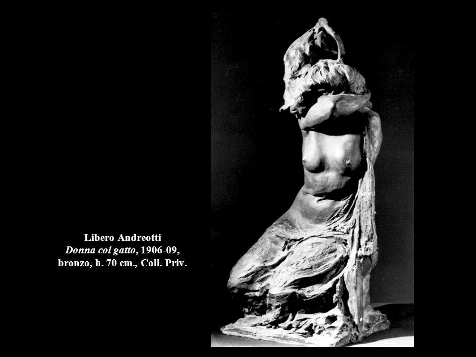 Libero Andreotti Donna col gatto, 1906-09, bronzo, h. 70 cm., Coll. Priv.
