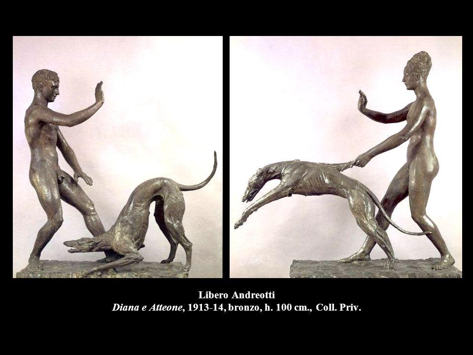 Libero Andreotti Diana e Atteone, 1913-14, bronzo, h. 100 cm., Coll. Priv.