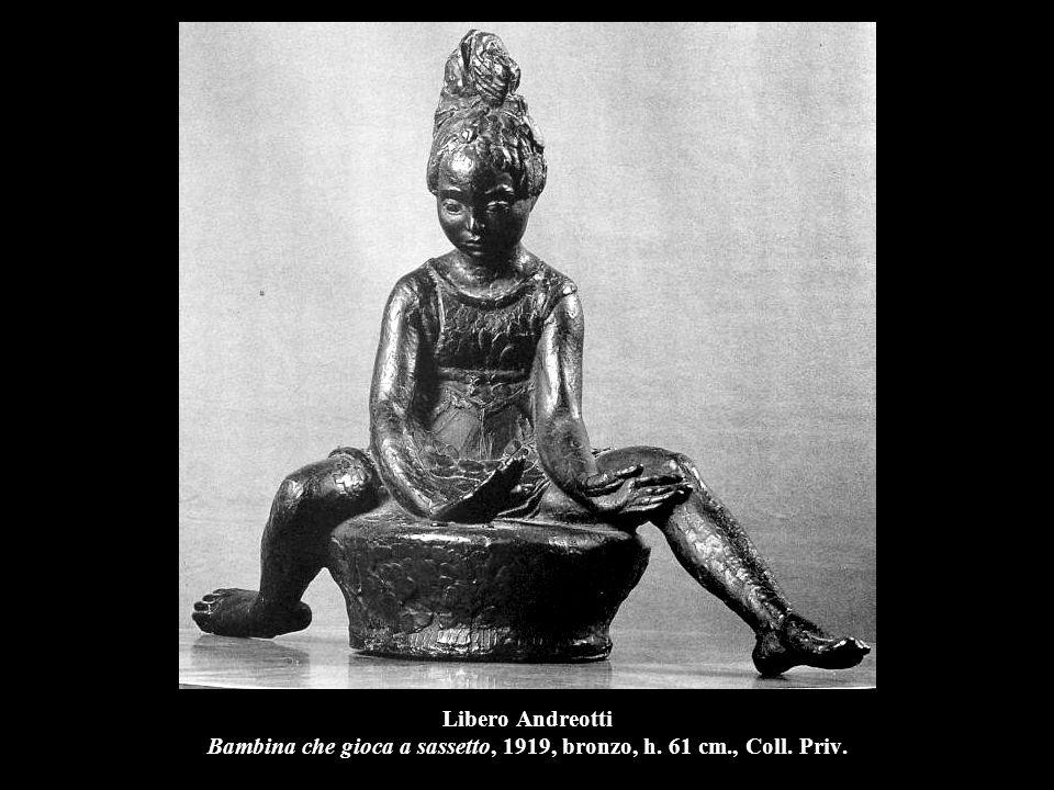 Libero Andreotti Bambina che gioca a sassetto, 1919, bronzo, h. 61 cm., Coll. Priv.