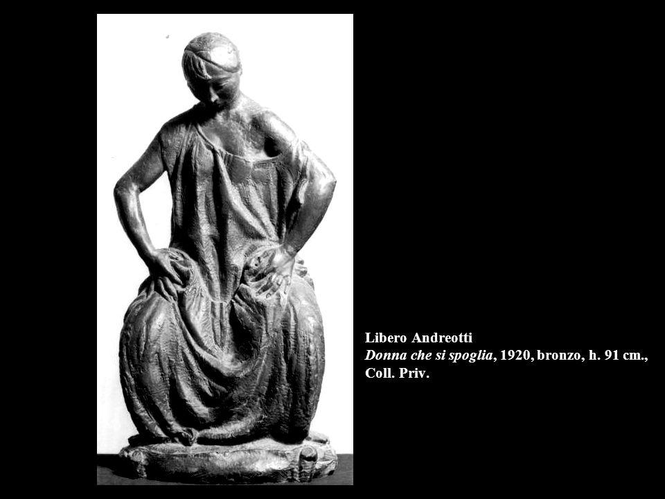 Libero Andreotti Donna che si spoglia, 1920, bronzo, h. 91 cm., Coll. Priv.