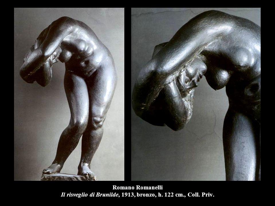Romano Romanelli Il risveglio di Brunilde, 1913, bronzo, h. 122 cm., Coll. Priv.