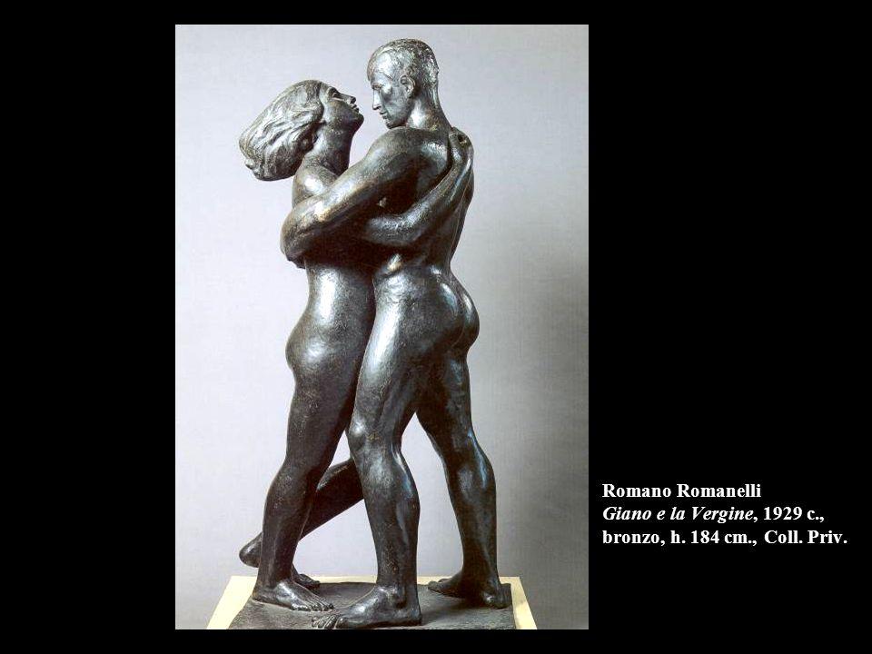 Romano Romanelli Giano e la Vergine, 1929 c., bronzo, h. 184 cm., Coll. Priv.