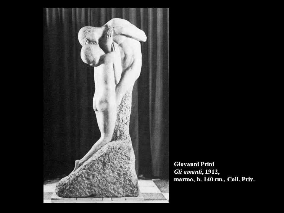 Giovanni Prini Gli amanti, 1912, marmo, h. 140 cm., Coll. Priv.