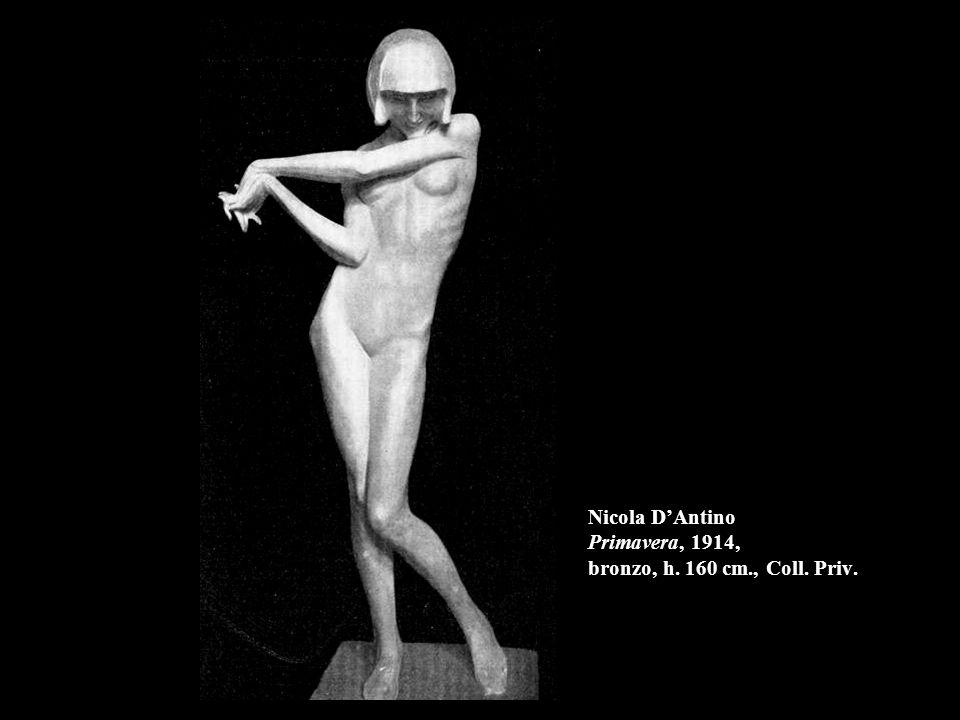 Nicola D'Antino Primavera, 1914, bronzo, h. 160 cm., Coll. Priv.
