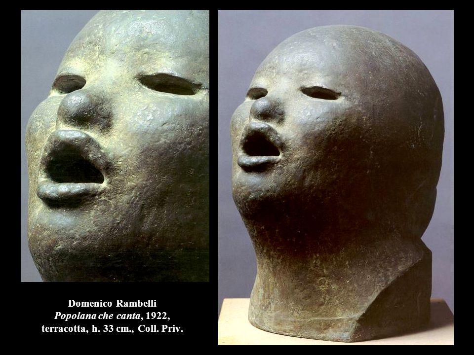 Domenico Rambelli Popolana che canta, 1922, terracotta, h. 33 cm., Coll. Priv.