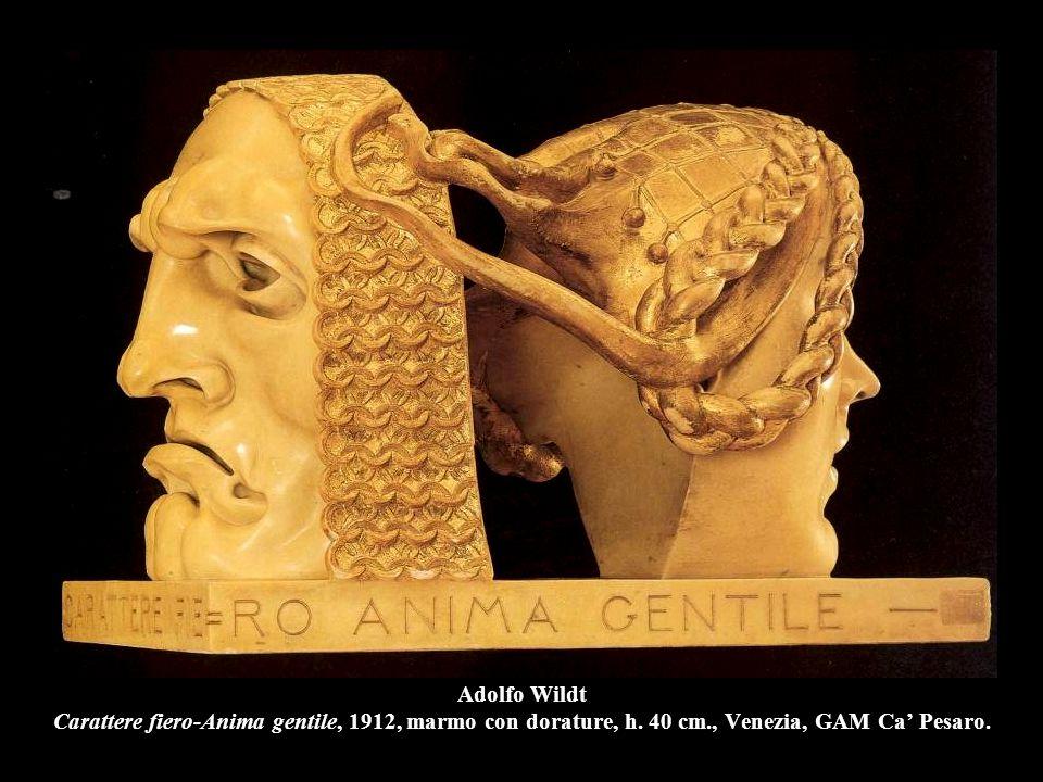 Adolfo Wildt Carattere fiero-Anima gentile, 1912, marmo con dorature, h. 40 cm., Venezia, GAM Ca' Pesaro.