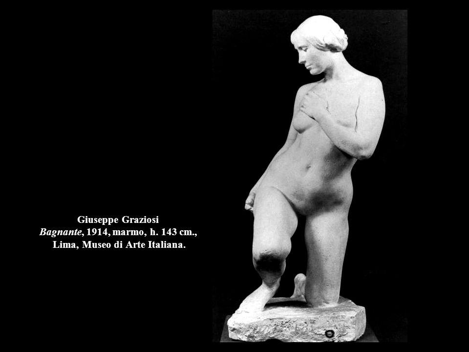 Giuseppe Graziosi Bagnante, 1914, marmo, h. 143 cm., Lima, Museo di Arte Italiana.