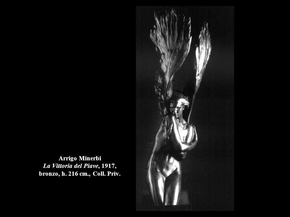 Arrigo Minerbi La Vittoria del Piave, 1917, bronzo, h. 216 cm., Coll. Priv.