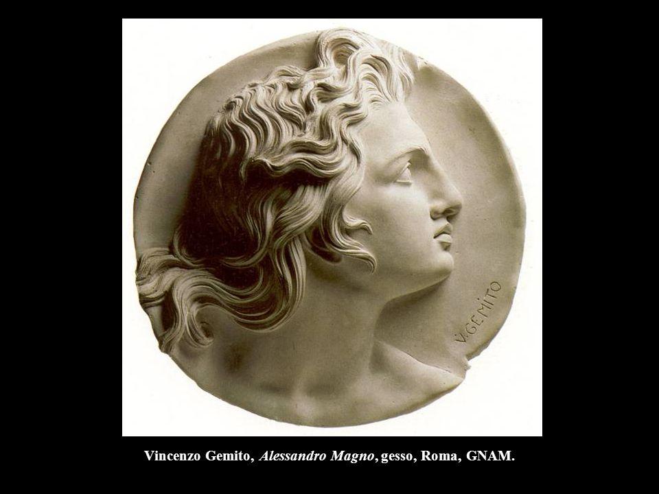 Vincenzo Gemito, Alessandro Magno, gesso, Roma, GNAM.