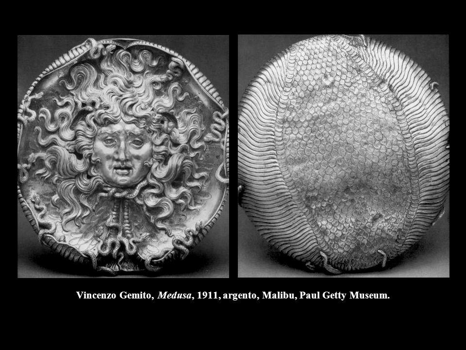 Vincenzo Gemito, Medusa, 1911, argento, Malibu, Paul Getty Museum.
