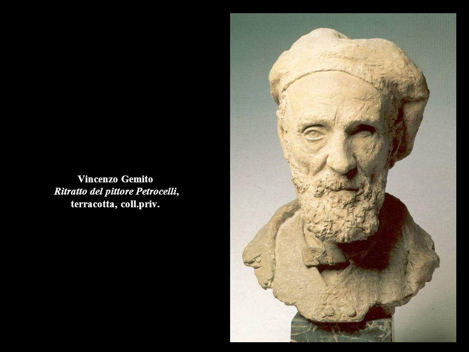 Vincenzo Gemito Ritratto del pittore Petrocelli, terracotta, coll.priv.