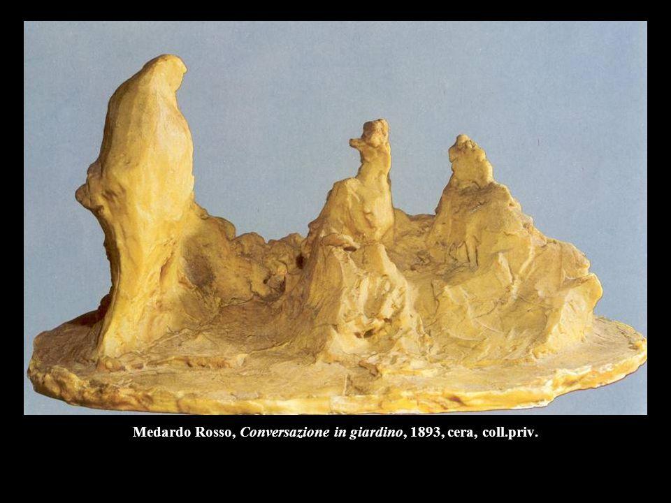 Medardo Rosso, Conversazione in giardino, 1893, cera, coll.priv.