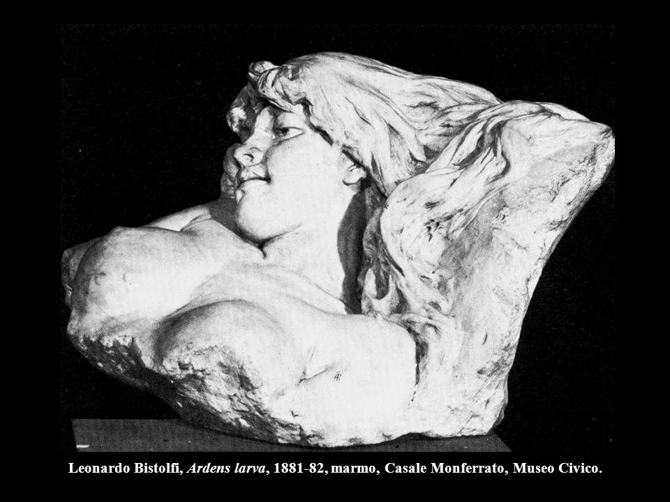 Leonardo Bistolfi, Ardens larva, 1881-82, marmo, Casale Monferrato, Museo Civico.