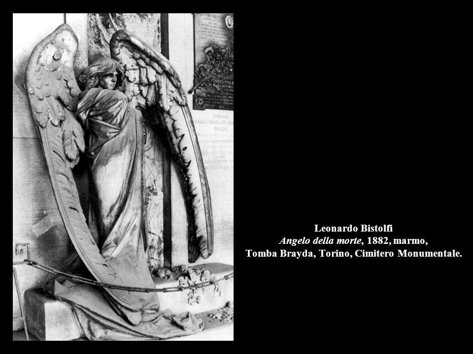 Leonardo Bistolfi Angelo della morte, 1882, marmo, Tomba Brayda, Torino, Cimitero Monumentale.
