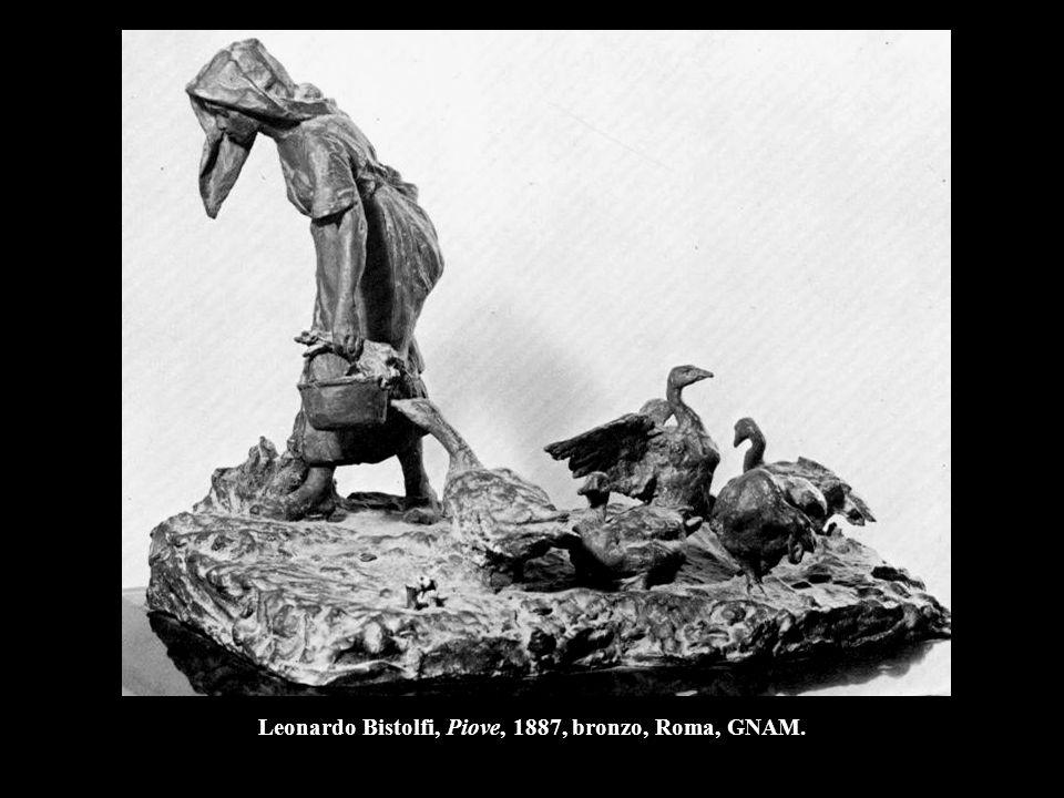 Leonardo Bistolfi, Piove, 1887, bronzo, Roma, GNAM.