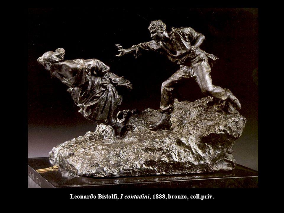 Leonardo Bistolfi, I contadini, 1888, bronzo, coll.priv.