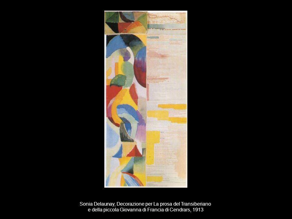 Sonia Delaunay, Decorazione per La prosa del Transiberiano e della piccola Giovanna di Francia di Cendrars, 1913