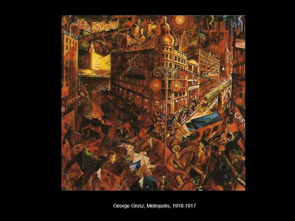 George Grosz, Metropolis, 1916-1917