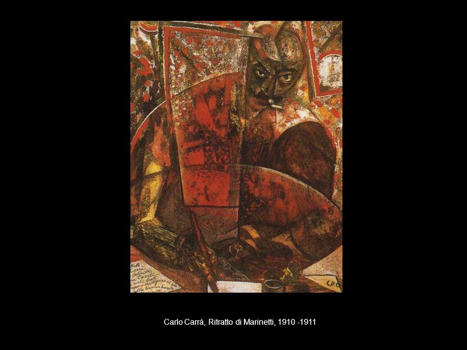 Giacomo Balla, Linee forza del pugno di Boccioni, 1915-1916