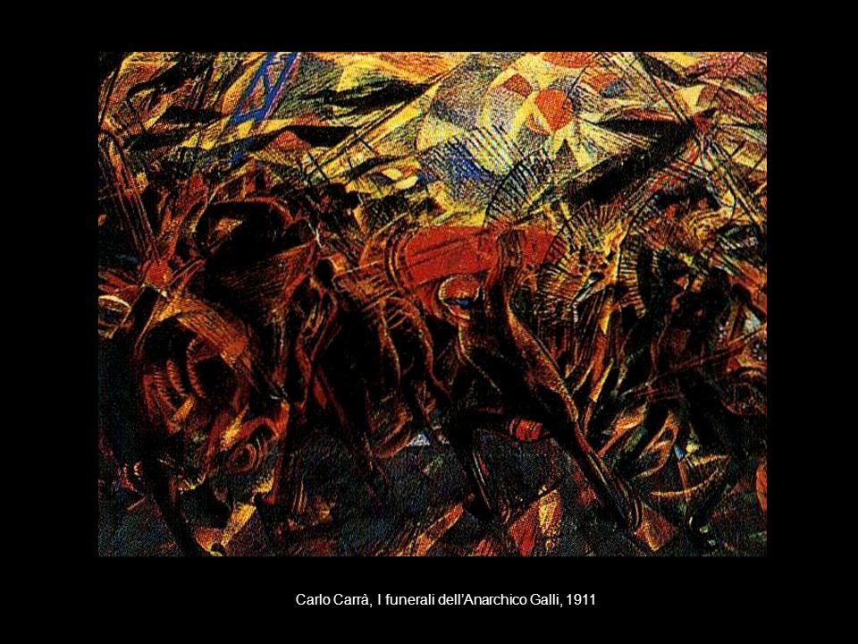 Carlo Carrà, I funerali dell'Anarchico Galli, 1911