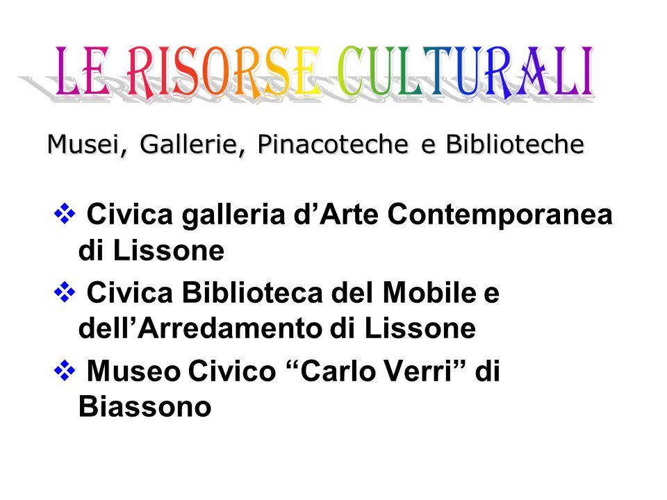 """ Civica galleria d'Arte Contemporanea di Lissone  Civica Biblioteca del Mobile e dell'Arredamento di Lissone  Museo Civico """"Carlo Verri"""" di Biasson"""