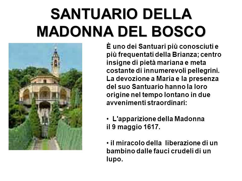 SANTUARIO DELLA MADONNA DEL BOSCO È uno dei Santuari più conosciuti e più frequentati della Brianza; centro insigne di pietà mariana e meta costante d
