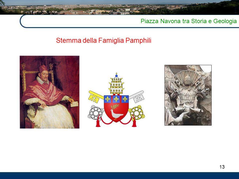 13 Piazza Navona tra Storia e Geologia Stemma della Famiglia Pamphili